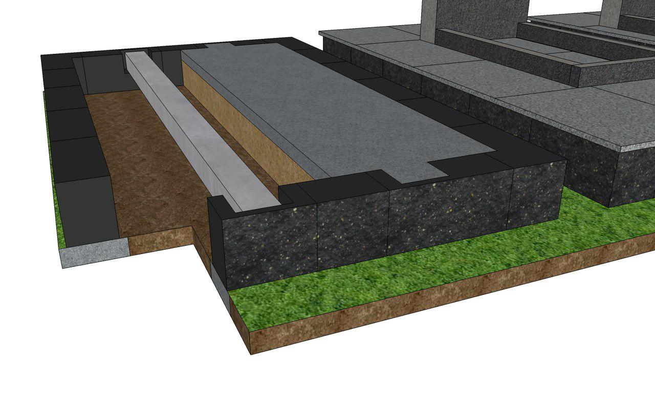 Установка бесерного блока на могиле
