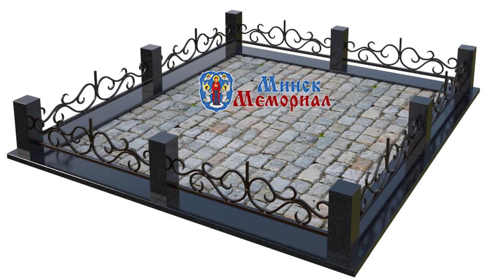 Кованная ограда на кладбище