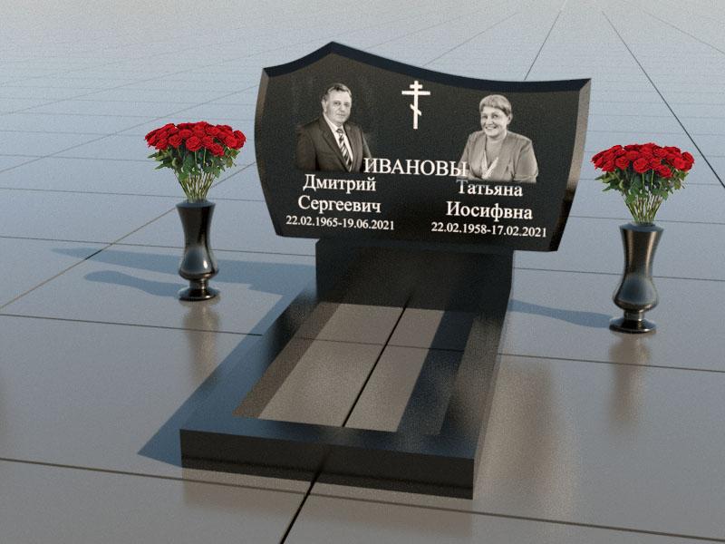 Памятник для двоих из гранита