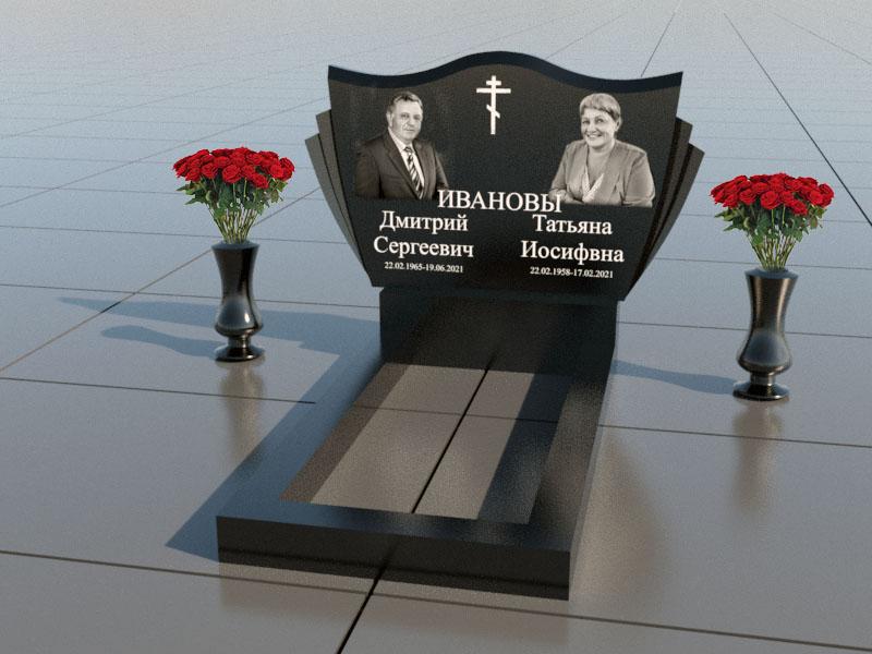 Памятник двойной на могилу